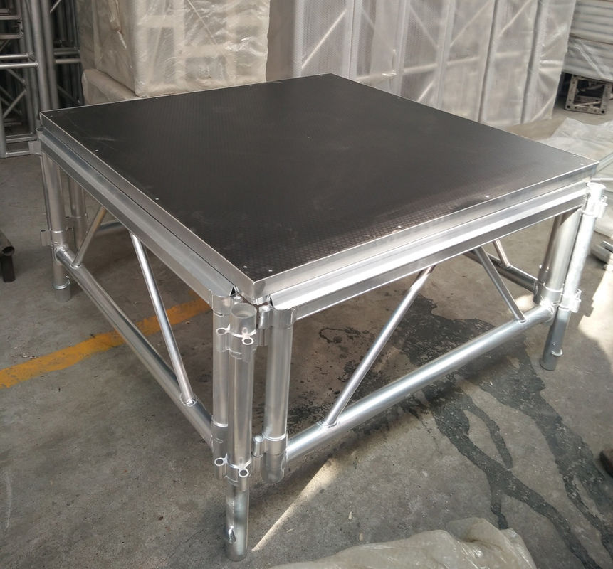 Outdoor Wooden and Aluminum Assembling Portable Stage Platforms for Wedding , Concert