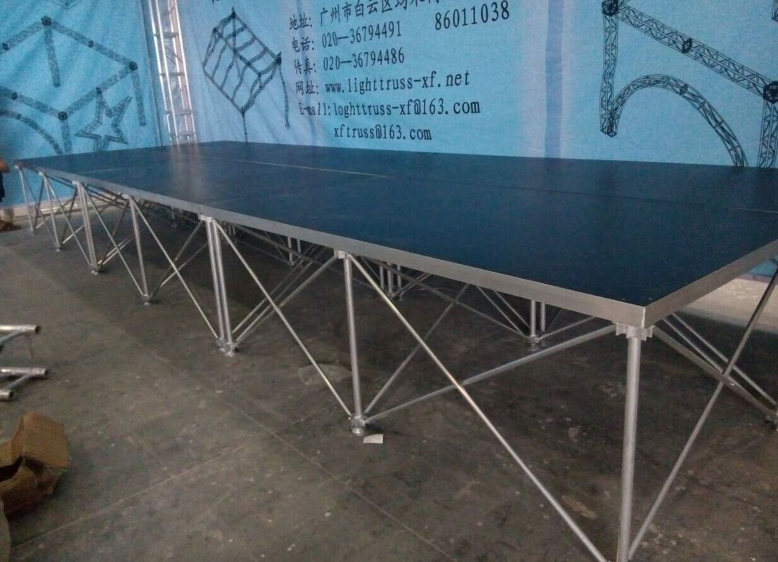 18mm Red / Black Folding Movable Stage Platform with Anti-slip Plywood